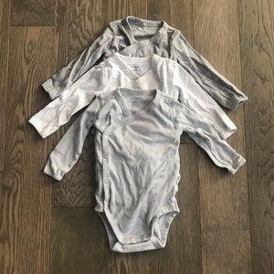 Wrap style long sleeve onesies
